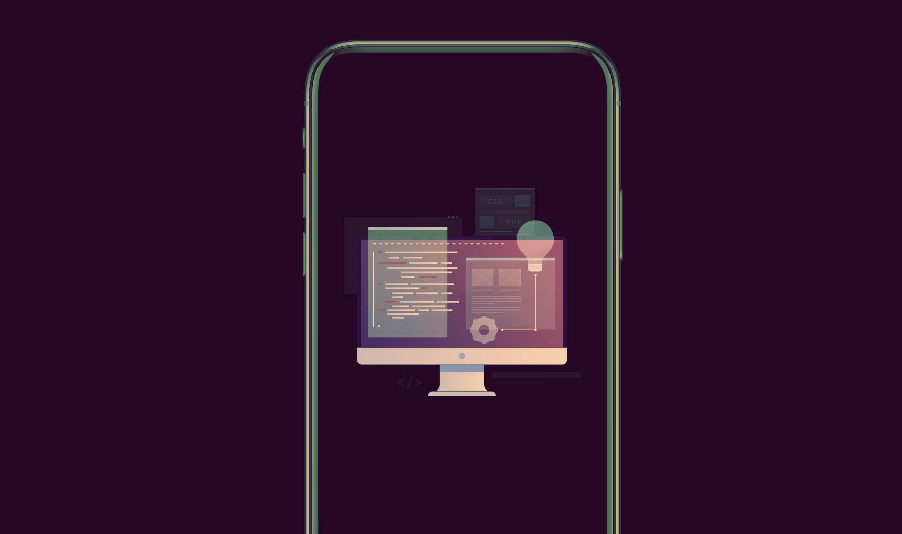 Google Core Web Vitals Header - Mobile Phone Graphic